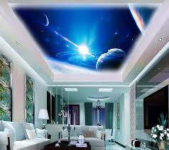 custom 3d stereoskopischen tapete decke cool universum 3d tapete auf die decke tapeten für wohnzimmer 3d decke