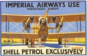 1930 S Imperial Airways Shell Aviation Fuel Advertisement Poster A3 Reprint