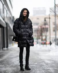 Coat Tumblr Black Quilted Bag Nyfw 2017 Fashion Week Streetstyle