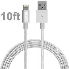 Lightning Cable JOOMFEEN Nylon Braided 10ft 3m Extra Long 8pin