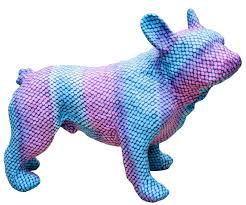 casa padrino deko bulldogge blau lila 48 x 22 x h 35 cm luxus wohnzimmer accessoires