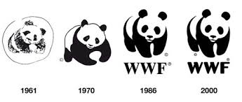 wwf panda logo simple design and the bare markings of an animal
