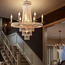 American Vintage Rustic French Style Crystal Chandelier Light Home Lighting Chandeliers Country Creative Pastoral LLFA