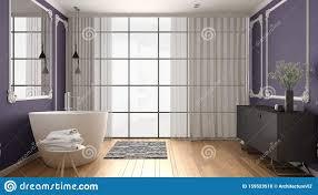 modermodernes weiß lila badezimmer im klassischen zimmer