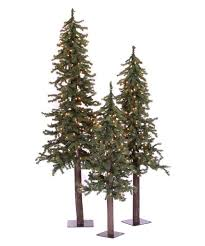 9 Ft Pre Lit Pencil Christmas Tree by Vickerman Natural Triple Alpine Pre Lit Christmas Tree Set Hayneedle