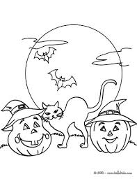 Jack O Lantern Gathering Pumpkins At Night Coloring Page