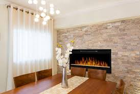 Dining Room Decor With Contemporary Electric Fireplaces