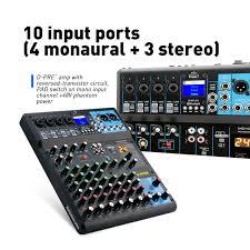 G MARK Audio Mixer Console Music Studio 24 Spx Effect Eco Digital Output 48V