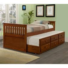 Trundle Beds Walmart by Donco Kids Captains Twin Trundle Bed Walmart Com