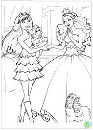Barbie The Princess And Popstar Coloring Page DinoKidsorg