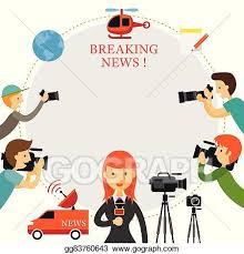 Reporter Photographer Cameraman News Report Frame