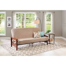 Mainstays Sofa Sleeper Weight Limit by Mainstays Fairview Storage Arm Futon With 6