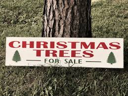 Christmas Trees For Sale Wood Sign Distressed Vintage Tree Farm Fixer Upper