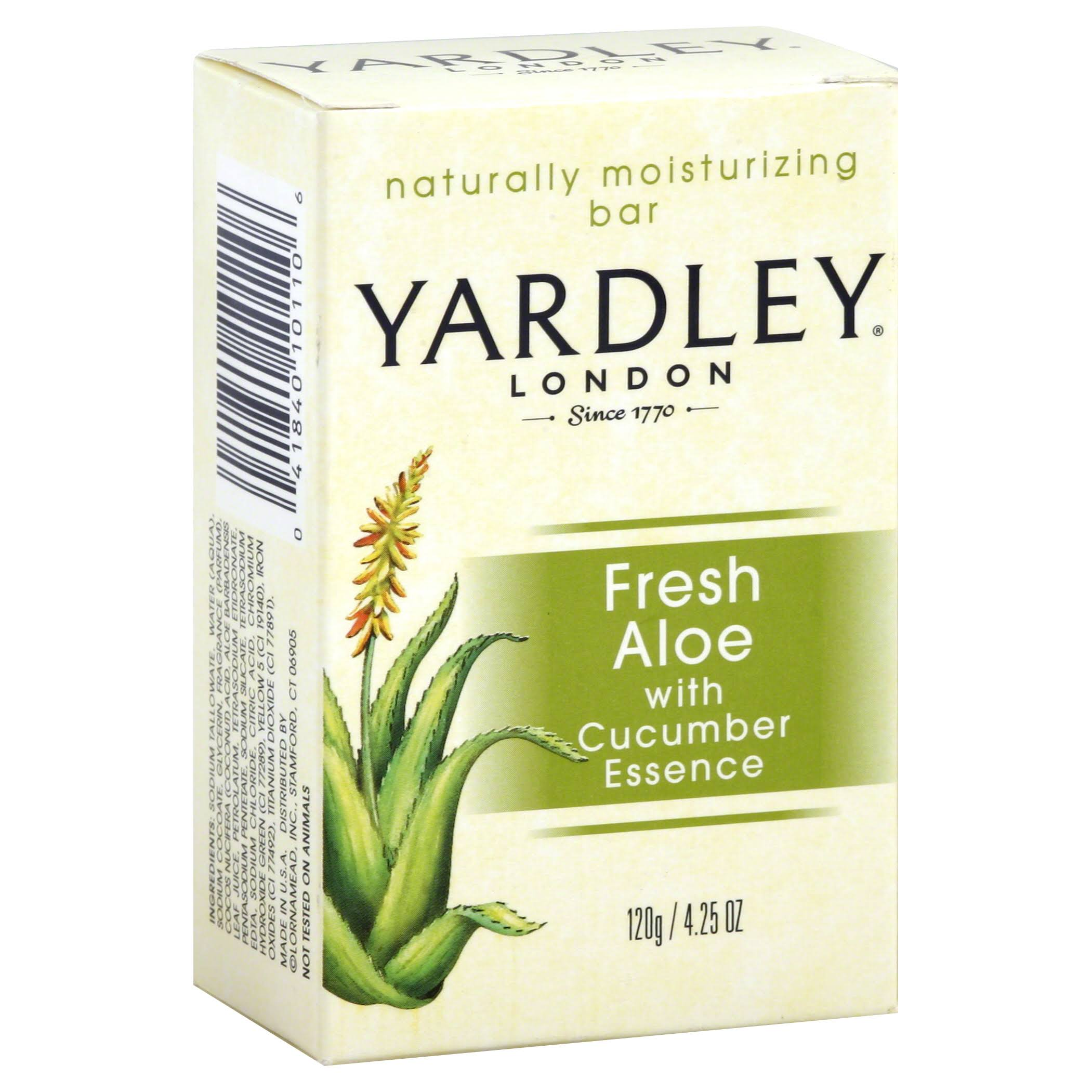 Yardley Naturally Moisturising Bar - Aloe & Avocado, 120g
