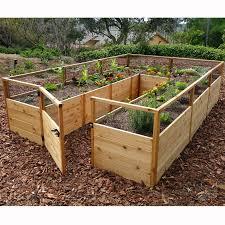 outdoor living today raised cedar garden bed 8 x 12 ft hayneedle