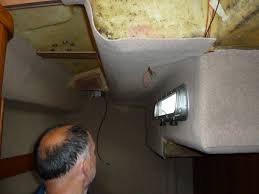 Installing Carpet In A Boat by How To Replace Your Head Lining The Pro U0027s And Con U0027s Static Boat