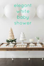 An Elegant White Baby Shower With French Inspiration