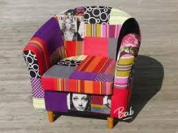 recouvrir un fauteuil club fauteuil patchwork