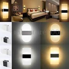 modern led wall light up cube indoor outdoor sconce lighting