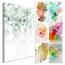 aquarell style leinwand bilder textur wandbild kunst druck wohnzimmer 7motiv