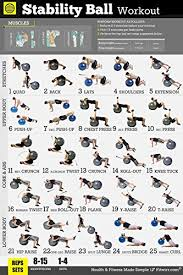 Exercise Ball Workout Poster Total Body Your Personal