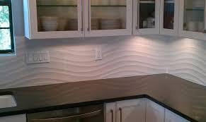 kitchen backsplash wave panel tile contemporary kitchen