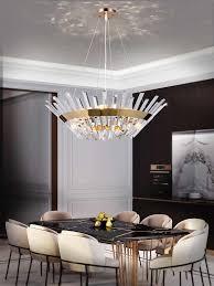 led leuchten post moderne kreative kristall kronleuchter luxus wohnzimmer decor esszimmer beleuchtung restaurant schlafzimmer hängen le
