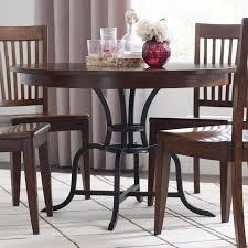 100 Heavy Wood Dining Room Chairs The Nook 44 Round Solid Table With Rustic Metal Base By Kincaid Furniture At Northeast Factory Direct