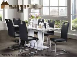 Marble Look Dining Table Set