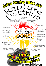 Rapture Doctrine Invented By John Darby In 1830 AD