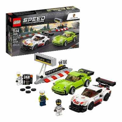 Lego Speed Champions Porsche 911 RSR and 911 Turbo Building Toy