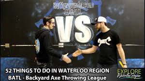 52 Thing To Do In Waterloo Region - BATL Backyard Axe Throwing ... Bad Axe Throwing Where Lives Youtube Think Darts Are Girly Try Axe Throwing Toronto Star Outdoor Batl At In Youre A Add To Your Next Trip Indy Backyard League Home Design Ideas The Join The Moving Into Shopping Mall Yorkdale Latest News National Federation Menu