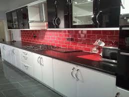 White Black Kitchen Design Ideas by Hilarious Red White And Black Kitchen Tiles 1 On Kitchen Design