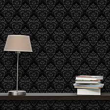 apalis vliestapete dunkler barock mustertapete breit vlies tapete wandtapete wandbild foto 3d fototapete für schlafzimmer wohnzimmer küche