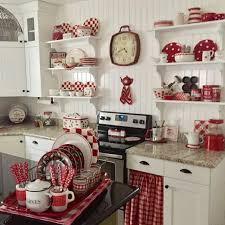 Jann At Have A Daily Cup Of Mrs Olson Had Put Together The Most Darling Red And White Farmhouse Kitchen Perfect For Valentines Day