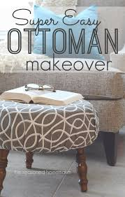 Chair And Ottoman Covers by Diy Ottoman Makeover An Easy Way To Recover A Footstool