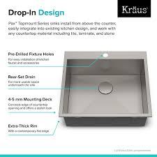 Stainless Steel Sink Grid Without Hole by Stainless Steel Kitchen Sinks Kraususa Com