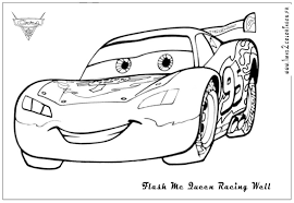 Interesting Ideas Coloring Pages Cars 2 Printable Lightning Mcqueen Fun Color Page