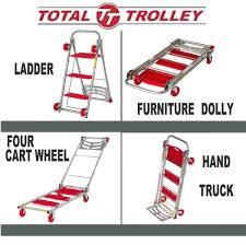 Total Trolley 4 In 1 Moving Trolley, Step Ladder, Hand Truck ... Milwaukee Hand Truck 800 Lb Capacity 2way Convertible Pictures Of Trucks Shop 300lb Red Steel At R Us Baron Folding 1321 Cart For Worlds Vex Forum Flower Pot Wonderme 3500 Truck30152 The Dual Handle Truckdc47132 Home Depot Steel Folding Hand Truck Tools Compare Prices Nextag 2 In 1 Horizontal Vertical Exquisite Dolly Cheap Lots From With Hd Box Trolley Heavy Duty
