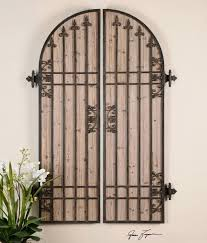 Lombardi Arch Panels Wall Decor Shaped As A Pair Of Doors Ornamental Iron