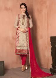 Especial Lace Work Chanderi Churidar Designer Suit