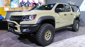 Chevy Colorado Concepts Built For Overlanding, Desert Racing At SEMA ... Chevy Surprise Its 2019 Silverado Pickup Will Get A 4cylinder Truck 2016 Price Fresh New Concept The Best Bruiser Twins Colorado Zr2 Race Development Truck And Aev Chevys New Concept The Chartt Not My Idea Of A Work Future Trucks Chevrolet Realtree Bone Collector 20 Release Date One Tuscany Motor Co Ssr Wikipedia 2018 1500 Performance Youtube Kid Rock Special Ops Concepts Unveiled At Sema This Supercharged Is Modern Muscle