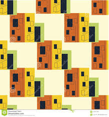 100 Bauhaus Style House Pattern Urban Modern Stock Illustration