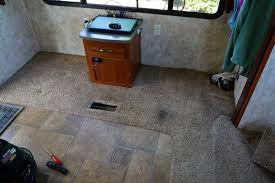 Best Type Of Flooring For Rv by Ripping Out My Fifth Wheels Rv Carpet