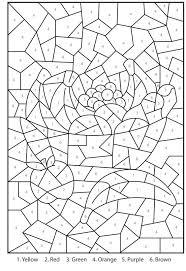 Hard Color By Number Printable Worksheets Best Image