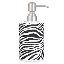 Zebra Print Bathroom Accessories Uk by Zebra Print Toothbrush Holder And Soap Dispenser Zazzle Co Uk