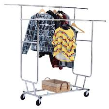 Decorative Metal Garment Rack by Collapsible Clothes Rack Rolling Racks Collapsible Or Zrack