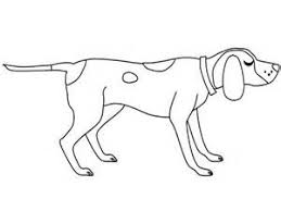 Blue Tick Hound Dog Coloring Page