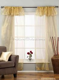 Curtain Rod Set India by Golden Rod Pocket W Attached Beaded Valance Sheer Tissue Curtains