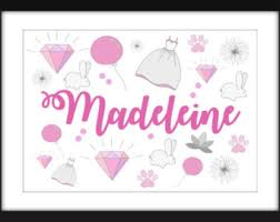 Personalised Girls And Boys Name Print A3 A4 A5 5 X 7
